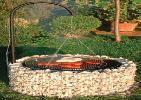 gabionen in form steink rbe als kr uterschnecke hochbeet hochteich grillstelle. Black Bedroom Furniture Sets. Home Design Ideas