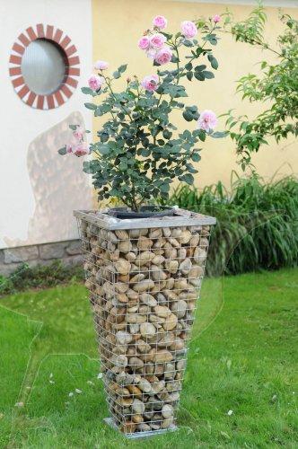 gabionen pflanzens ulen pflanzgabionen planzengabionen garten park gabionensteele steink rbe. Black Bedroom Furniture Sets. Home Design Ideas