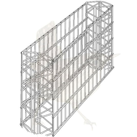 Wandsystem 230 mm Pergone� - 0600 mm Grundelement verzinkt