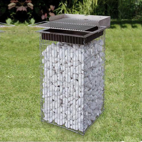 gabione gartengrill 400 x 0800 x 400 mm quadratisch gabionen steink rbe gabionen in form. Black Bedroom Furniture Sets. Home Design Ideas