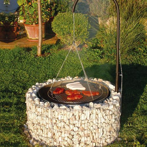 gabione feuerstelle grillstelle gabionen steink rbe. Black Bedroom Furniture Sets. Home Design Ideas