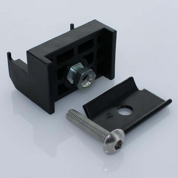 Gittermattenhalter Set Bekasport Ballfang 50mm schwarz