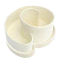 Kräuterspirale weiß glasiert 250x110x210 mm, Set
