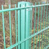 Zaunpfosten kpl. als Mittelpfosten, Zaunhöhe 1400 mm, grün
