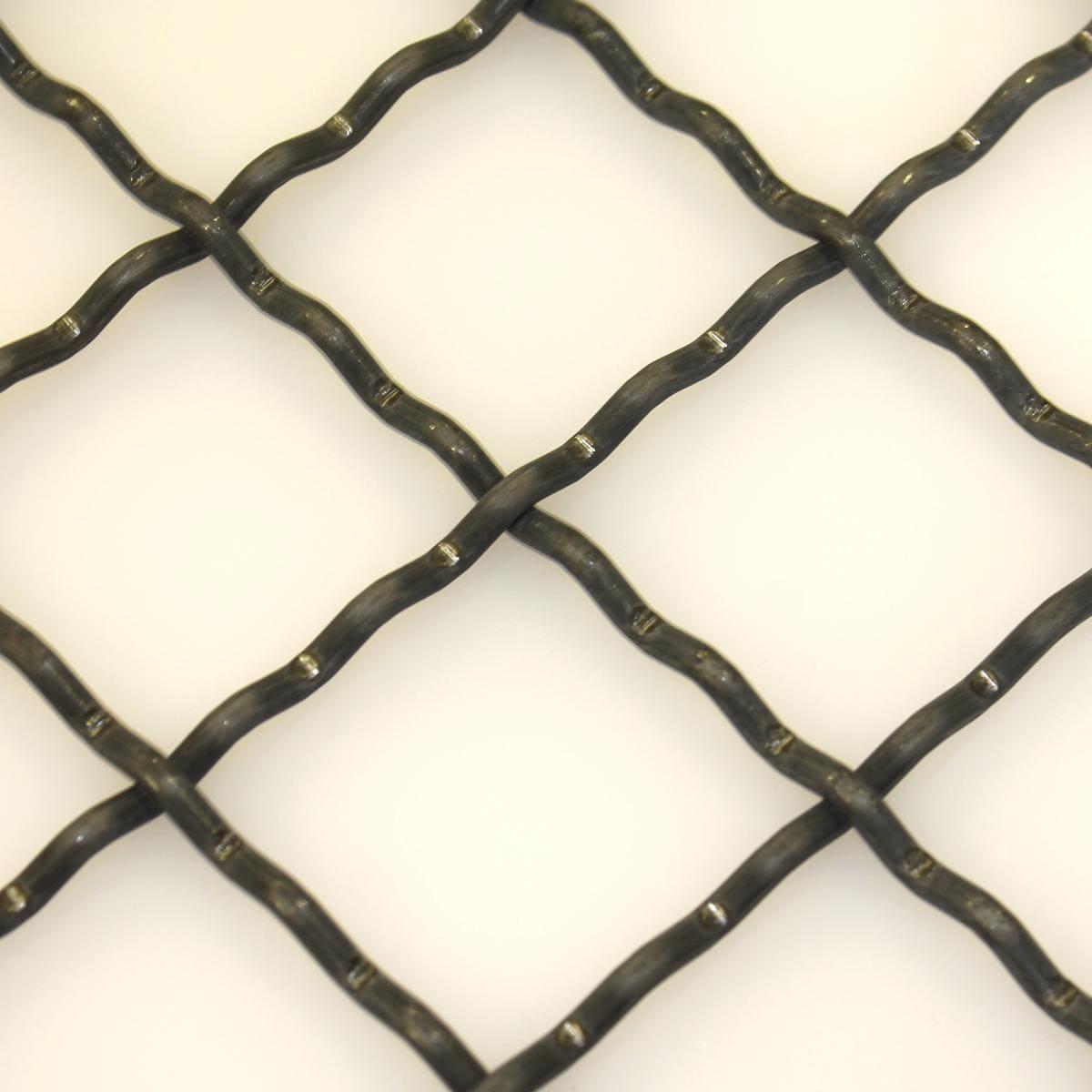Wellengitter Gitter 1,0x2,0 Meter aus Stahl MW 40x40x4