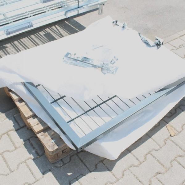 Toranlage mit Wandanschlussplatten LW 1195 x 1000 mm anthrazitgrau