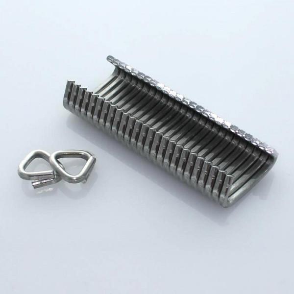 OK 33 D-Drahtösenklammern 3000 Stück - Aluminium