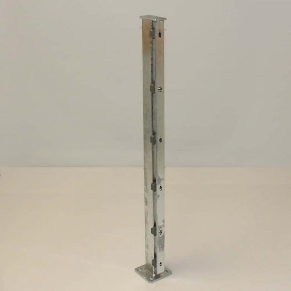 Zaunpfosten 1 Meter mit angeschweißter Bodenplatte
