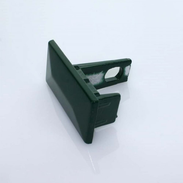 Abdeckkappe 60 x 40 mm Aluminium mit Schraublasche grün