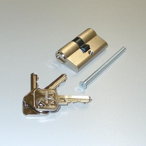 Toranlage mit Profilzylinder sichern