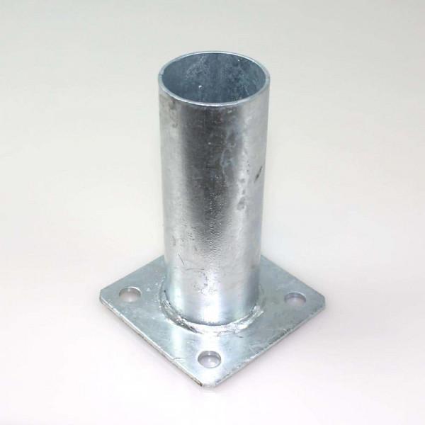 Bodenplatte 100x100x4,0 mm für Rundpfosten 60 mm