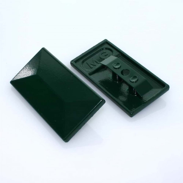 Abdeckkappe 60 x 40 mm mit Alu Klammer grün