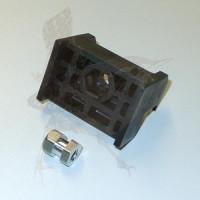 Mattenhalter schwarz 40 mm mit Nagel