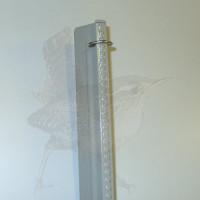 Zaunpfosten kpl. als Mittelpfosten, Zaunhöhe 1500 mm, grau