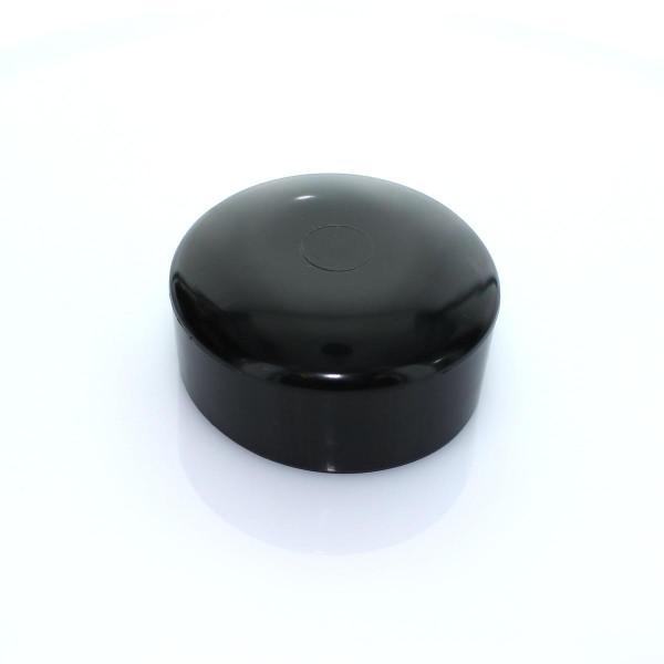 Abdeckkappe schwarz Ø 90 mm PVC