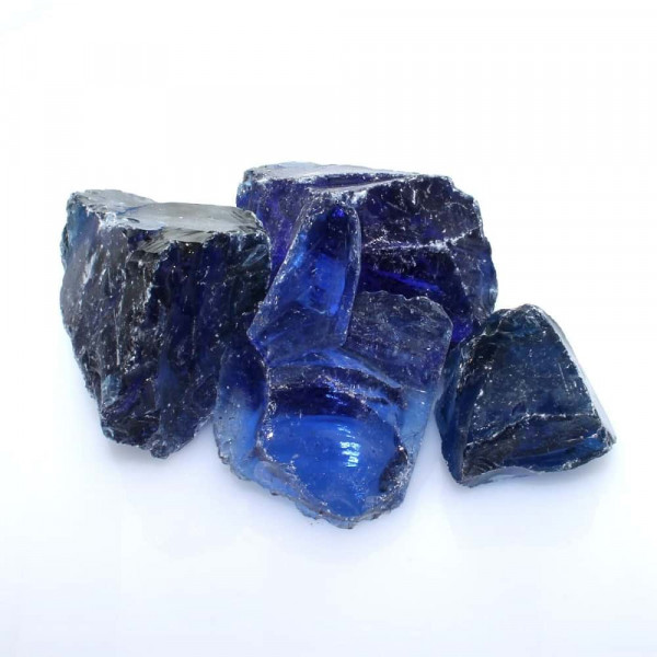 Glasbrocken Gabionen Fuellung blau 40/080 mm