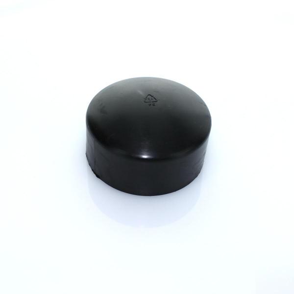 Abdeckkappe schwarz Ø 76 mm PVC