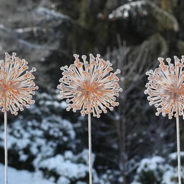 Edelrost Blume Garten Deko Metallkunst