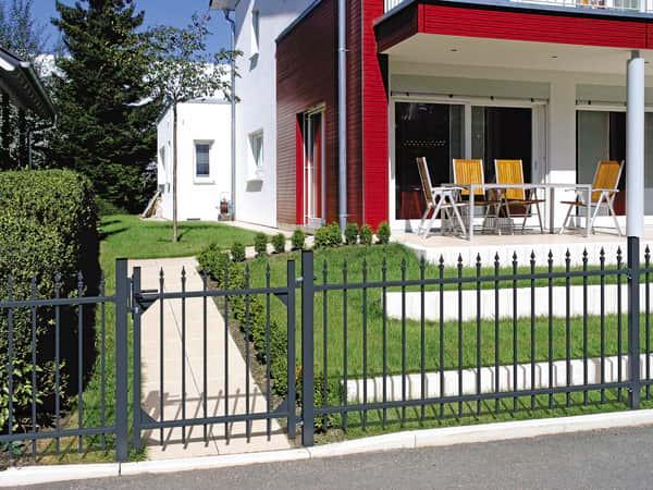 Gartentür für Aluminium Zaunanlage