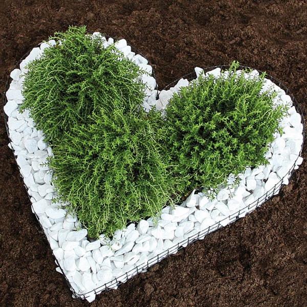 Herz gitter für Grab, Pflanzschale Herz groß