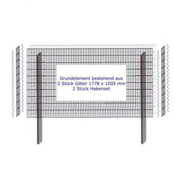 Mauersystem Paravento Gabionenwand Grund 1778x1005