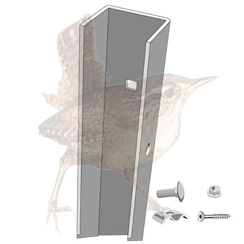 Relativ Wandsystem U-Schiene 0600 mm zur Holzaufnahme | Pergonen 230 mm YO57