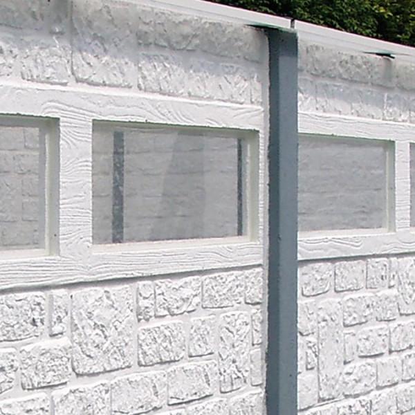 Betonzaun Standard L - Fensterglas für Fensterplatte