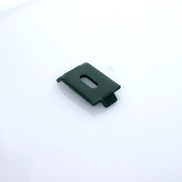 Gittermattenhalter gekröpft beidseitig grün