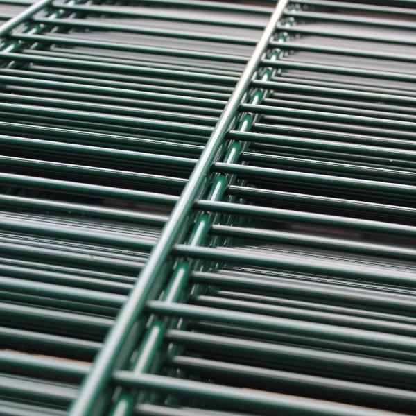 Zaun feuerverzinkt und grün beschichtet