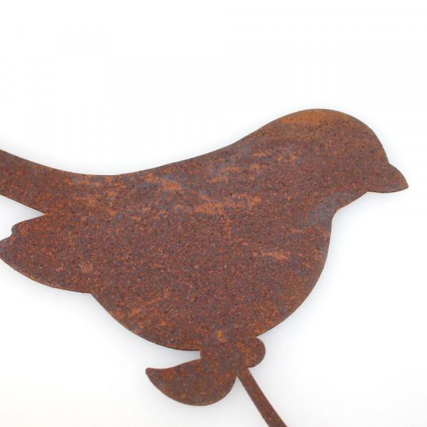 Staketenzaun Dekoration Zaunhocker Vogel Rost