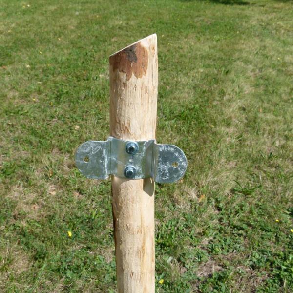 Eisenhalter für gerade Holzlatten