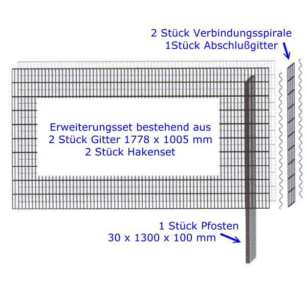 Mauersystem Paravento Gabionenwand 1778x1005