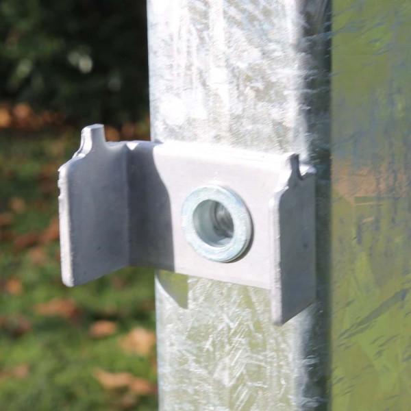 Gittermattenhalter und Blindniete hochwertig aus Stahl