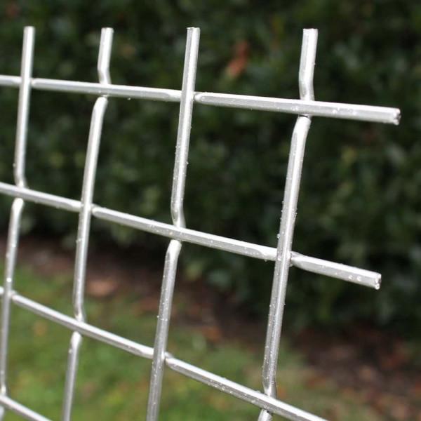 Stanzgitter einseitig glatt - 40,0x4,0 V2A - Tafel 1x2 m