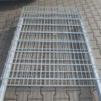 Zaungabione 1600 x 1100 x 165 mm mit Haltepfosten - leicht beschädigt