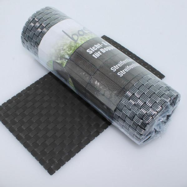 Sichtschutz bastline grau 190 x 2560 mm