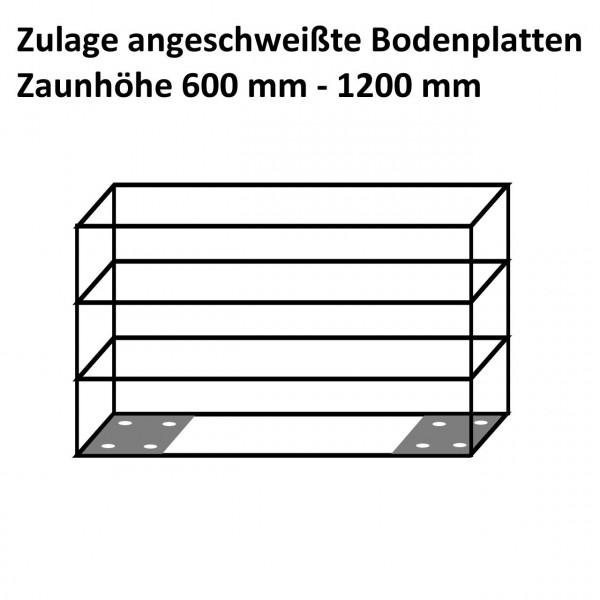 Zaungabione Zulage anges. Bodenplatten 0600 - 1200 mm