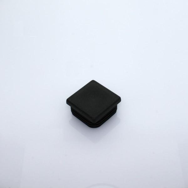 Abdeckkappe 40 x 40 mm schwarz PVC