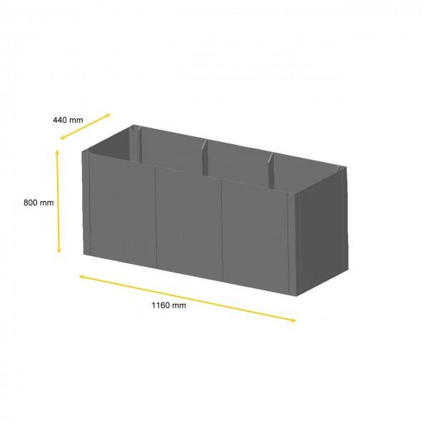 Hochbeet System Pannello Corten-Stahl Rost Hochgarten