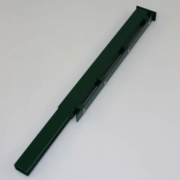Adapter um Stahlmatten auf Rechteckrohr zu verbinden.