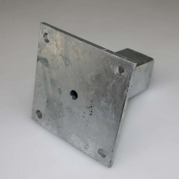 Bodenplatte 150 x 150 x 8 Quadratrohr 60x60 mmn