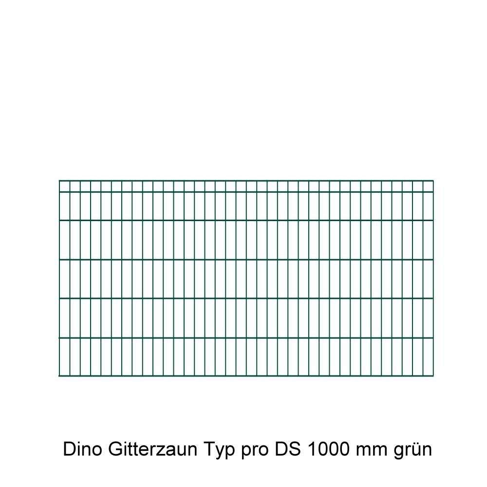 DINO Höhe 1000mm Gittermatte pro DS grün