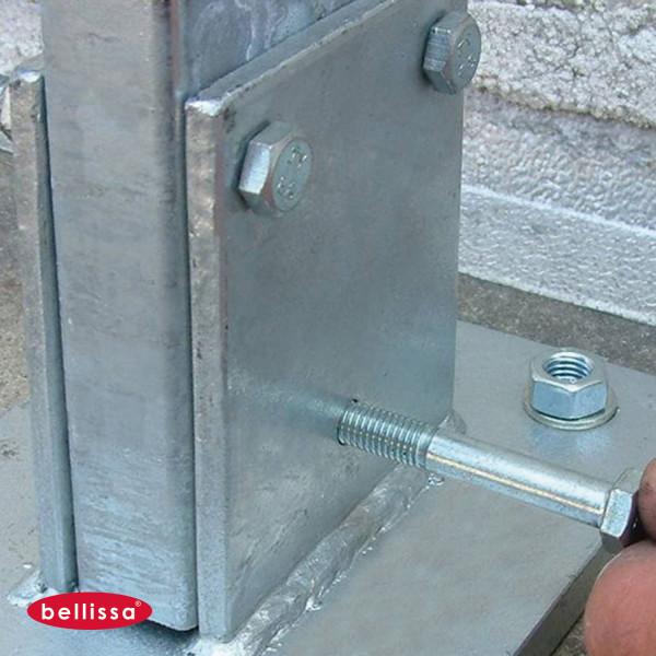 Mauersystem Bodenplatte für Pfostenprofil 100 x 30 mm