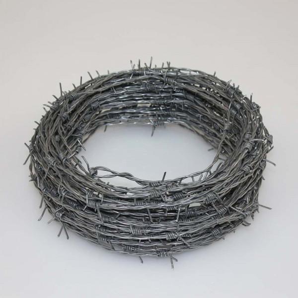 Stacheldraht Ring 25 Meter in verzinkt.
