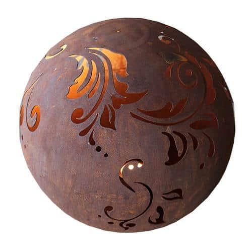 Metallkunst Edelrost Kugel Ornamente Dekoration