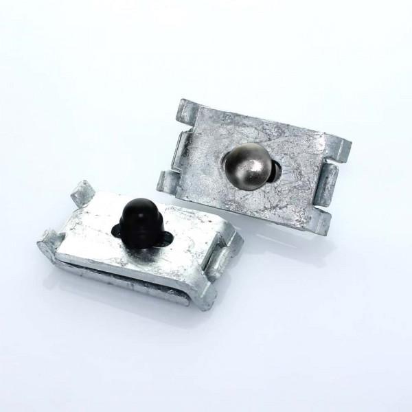 Eckverbinder für Doppelstabmattenzaun in verzinkt