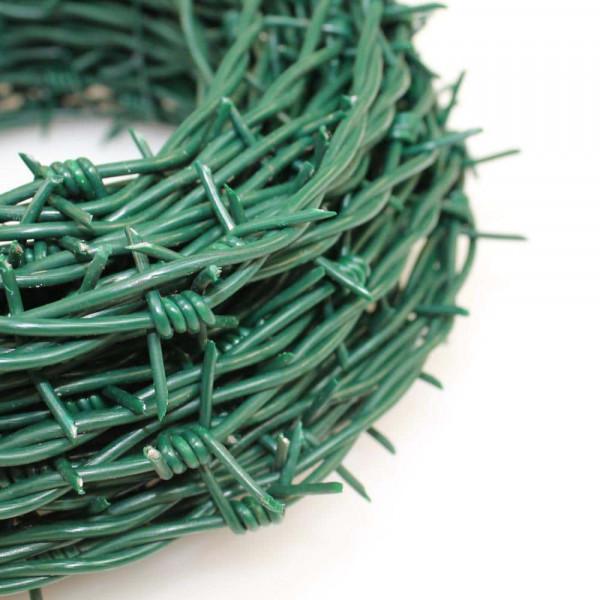 Meterware Stacheldraht in grün