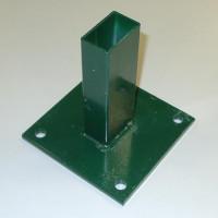 Bodenplatte für Rechteckrohr 60x40mm, 150x150x8,0mm, grün