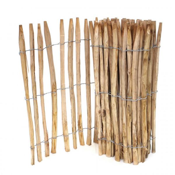 staketenzaun kastanie aufbau 80 cm