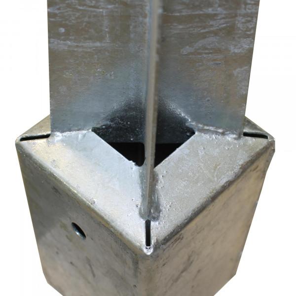 Einschlaghülse 90 x 90 mm -Länge 750 mm in verzinkt